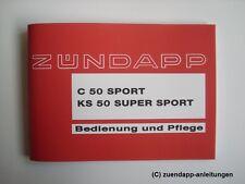 Bedienungsanleitung Zündapp C50 Sport 517-21L0, KS 50 Super Sport Typ 517-02L8