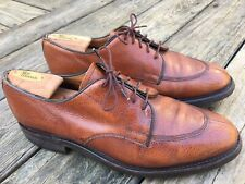Made in England Cheaney Tan Country Split Toe Shoes Dainite Sole Sz 10.5 D