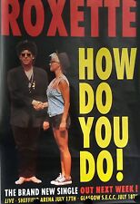 Roxette- How Do You Do. Original Promo Poster 40x60 Inch. Free Int. Shipping