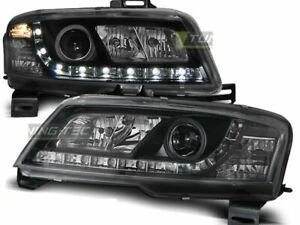 Olhe faróis LED DRL FIAT STILO 3D 01-08 Daylight Preto Frete Grátis AU LPFI12 XI