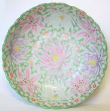 Large Hand Painted Floral Bowl Ceramic 12 to 13 Width AS IS