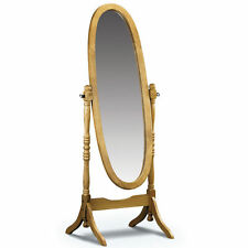 Pine Frame Oval Freestanding Decorative Mirrors