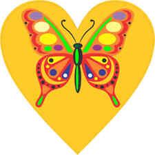 4x4 Orange Butterfly Heart Bumper Sticker Vinyl Cup Decal Car Window Stickers