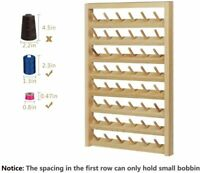 48-Spool Sewing Thread Rack,Wall-Mounted Sewing Thead Holder with Hanging Hooks