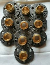 Iron Flange With 22 mm Brass Fittings X 10
