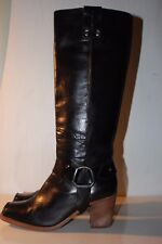 CATERPILLAR Black Leather Pull On Boots, UK5/EUR38, VGC