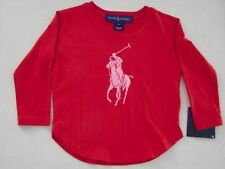 Ralph Lauren Girls' Crew Neck T-Shirts, Top & Shirts (2-16 Years)