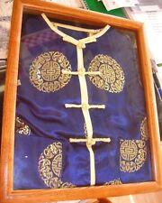 Vintage Silk Chinese/Japanese-Top & Pants- Blue Silk Embroidered-Matsuzaki-Box