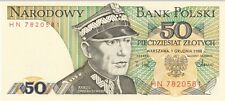 POLAND--P 142c-- 50 Zlotych--Uncirculated--LOT OF 6--FREE SHIPPING