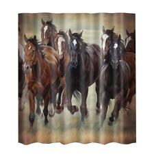 Horses Fabric Bathroom Shower Curtain Liner-180x 180cm-Fabric Curtain #10