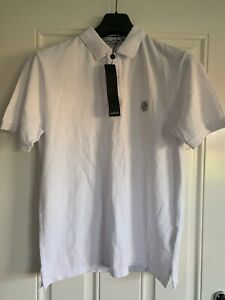 Stone Island Polo T Shirt  Top, White  M