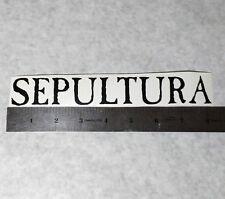 SEPULTURA Vinyl DECAL STICKER BLK/WHT/RED Thrash Metal BAND Logo Window Guitar