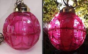 Ruby Red Swag Lamp Mid Century Hollywood Regency MCM
