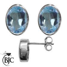 Pendientes de joyería con gemas mariposa azul de plata de ley