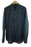 Paul Smith dark grey paisley  long sleeve shirt size 41 RRP145 PO29