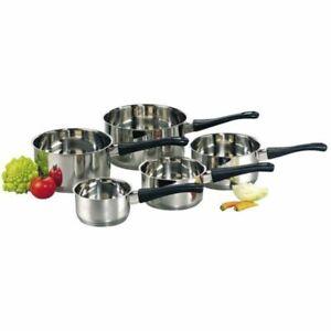 Baumalu - Lot de 5 casserole en inox 12/20 cm , tous feux et induction