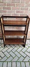Vintage Foldable Wood/Wicker Shelves set 2