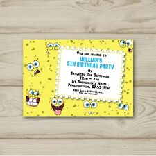 10 Personalised Birthday party invitations SpongeBob Square Pants