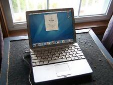 "Apple PowerBook G4 12"" Laptop 1.5GHz 768MB 80GB HD OS 10.4.11, DVD Drive"