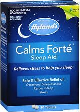 Hyland's Calms Forte Homeopathic Sleep Aid 50 Tablets PHARMACY FRESH!