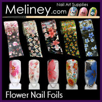 Flower Nail Art Transfer Foils Holographic Floral Transparent Foil sticker Nails