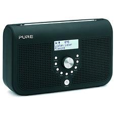 Pure One Elite Series 2 Schwarz Stereo DAB Digital & FM Radio Inklusiv Hören