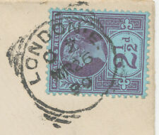 "2455 ""LONDON-E.""  Squared Circle Postmark (Cohen Type II A-O SC – only ca. 1 3/4"