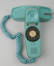 Vintage 1969 ITT Teal / Turquoise Blue Rotary Slim Home Telephone VG condition
