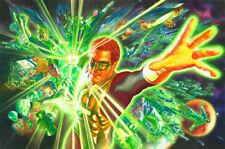 ALEX ROSS rare GREEN LANTERN & THE POWER RING paper giclee SIGNED art COA