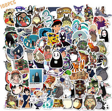 100PCS Studio Ghibli Stickers Hayao Miyazaki Anime Stickers Waterproof Vinyl Sti