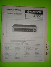 Sanyo ja 500 service manual original repair book stereo power amp amplifier