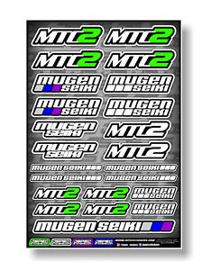 MUGEN SEIKI MTC2 EP TOURING CAR STICKER SHEET JSPEC STICKERS RC CAR LAMINATED