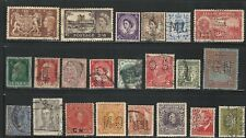 Worldwide: Lot of 22 different stamps with perfins used,some val. mint Nh. Wo228