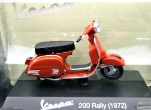Collection Models vespa Scale 1:18 200 RALLY Red motorcycle Motor Bike