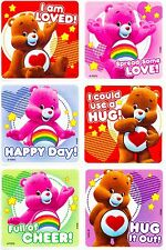 Care Bears Stickers x 6 - Birthday Party - Favours - Loot Ideas - Loved Hugs