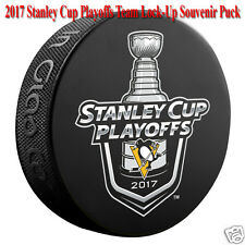 2017 Pittsburgh Penguins NHL Stanley Cup Playoff Lock-Up Souvenir Hockey Puck