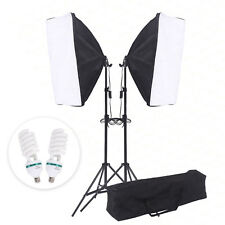 2PC Softbox Light Stand Photo Studio Video Photography Continuous Lighting Kit