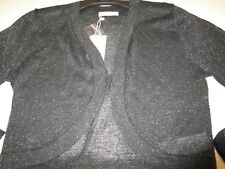Ladies Target black metallic bolero  cardigan/jacket   Size XL