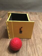Vintage Stage Magic Illusion Prop Wooden Folding Box And Red Ball