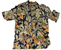 TORI RICHARD Short Sleeve Shirt Mens Size M Cotton Lawn Hawaiian Made in USA