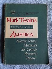 Mark Twain's Picture of His America / Neal Frank Doubleday - 1960 -Softback Book