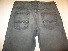 7 For All Mankind Mens Slouchy Jeans 30 X 26 Straight Leg Distressed 100% Cotton