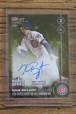 2016 TOPPS NOW #646B KRIS BRYANT AUTO W.S. CARD GAME 5 HR #70/99