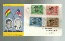 1958 Ghana  Kwame Nkrumah Visit to USA and Canada Eisenhower first day Cover FDC