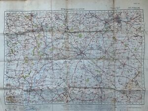 STRATFORD-ON-AVON - WARTIME ORDNANCE SURVEY ONE-INCH MAP (SHEET 82) - 1940