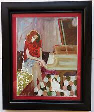 "Sabzi ""At the Piano"" Framed Limited Edition Hand Embellished Serigraph COA"
