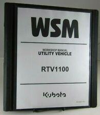 Kubota Rtv1100 Utility Vehicle Workshop Service Repair Manual Thru 2007