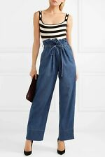New £580 Stella McCartney Wide Leg Paperbag Waist Benni Jeans