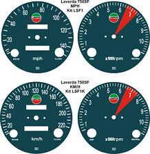 LAVERDA JOTA 3C 750SF & 500 MONTJUIC SPEEDO TACH REV COUNTER GAUGE DIAL OVERLAYS