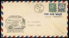 Mayfairstamps CANADA FIRST FLIGHT COVER 1932 COVER SISCOE PQ TO PASCALIS wwh3744